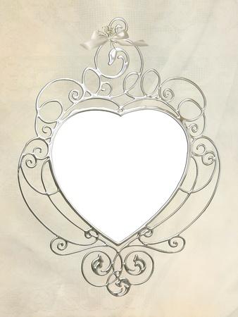 silver frame: vintage silver wedding frame