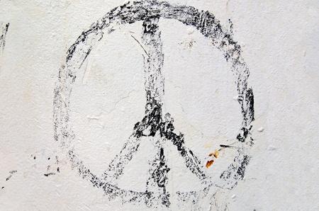 simbolo de la paz: agotado signo de la paz