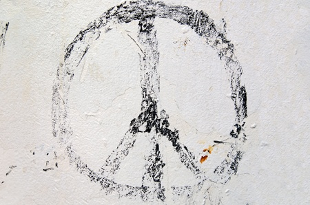 sign: worn out peace sign
