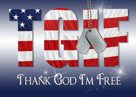 dog tags on flag font