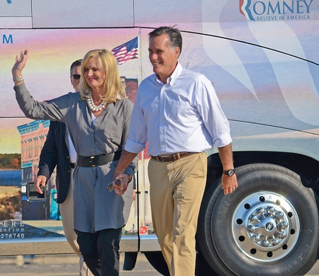 Mitt and Ann Romney, June 19, 2012, Campaign rally in Holland Stock Photo - 15240269