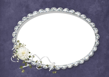 diamond shape: diamond oval frame with dahlia bouquet