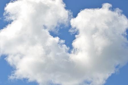 fluffy heart cloud Stok Fotoğraf