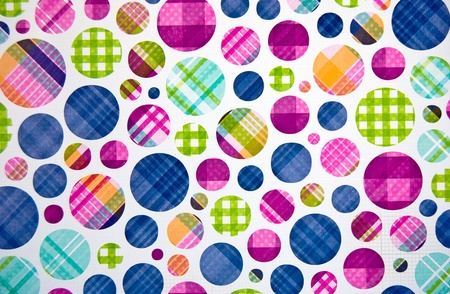 gingham: plaid polka dot background on white Stock Photo