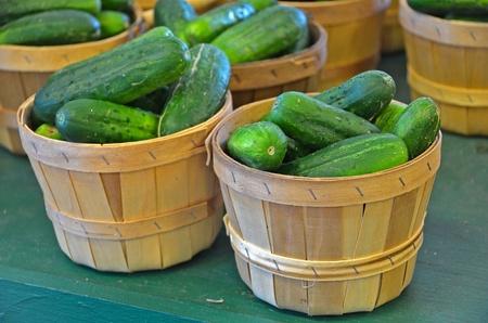 cucumbers: cucumbers in baskets