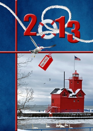 2013 nautical Christmas collage photo