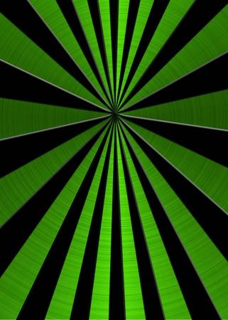 metallic green star burst background