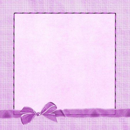 sheer: pink plaid frame with sheer pink bow