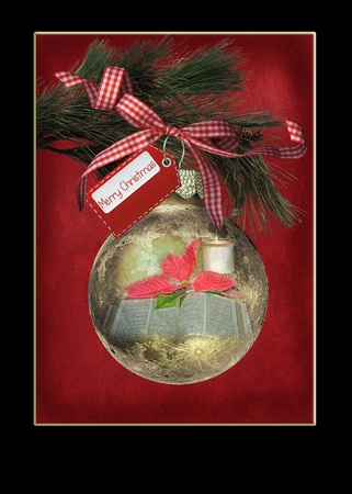 Christmas ornament with tag Stock Photo