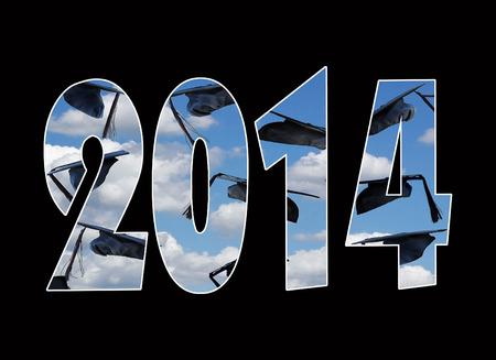 gorros de graduacion: casquillos de la graduaci�n en el aire para 2014