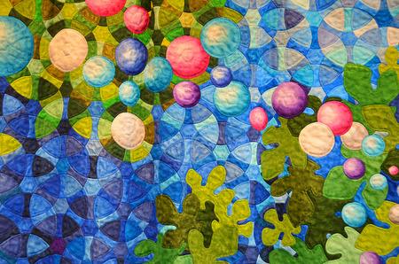 contemporary patchwork quilt Imagens