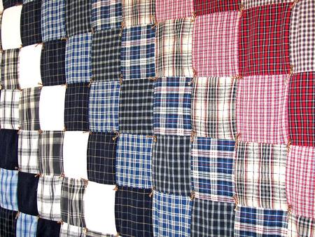 homemade plaid patchwork quilt design