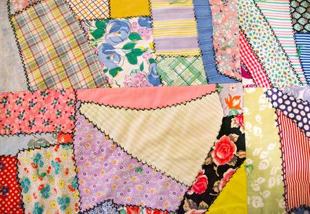 patchwork: patchwork crazy quilt Stock Photo