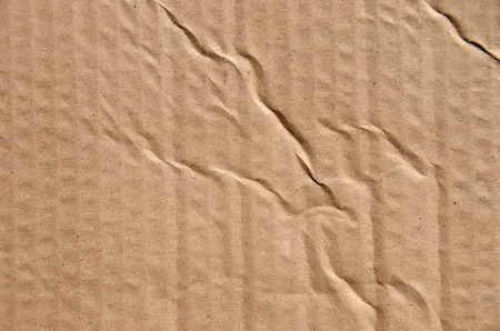 cardboard with wrinkles Banco de Imagens