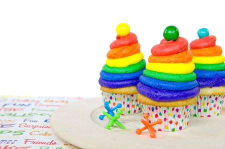 jacks: rainbow birthday cupcakes with toy jacks