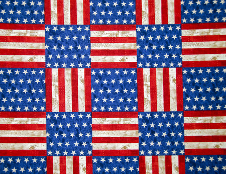 checker flag: red and blue star and stripe background tile