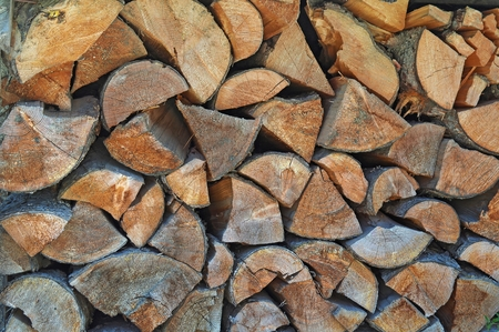 stacked chopped wood