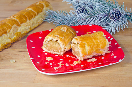 banket: dutch banket pastry with frosty  pine Stock Photo