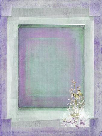 slit: ramo nupcial en marco de la esquina raja textura Foto de archivo