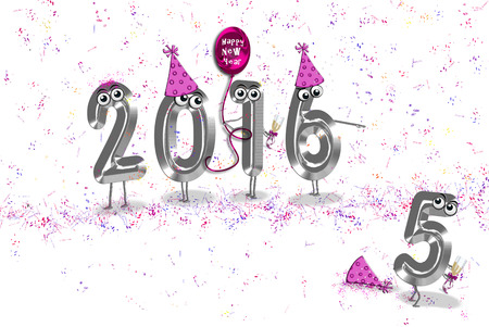 humorous: Humorous 2013 New Year illustration with party elements