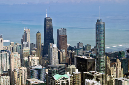american midwest: city of Chicago in winter