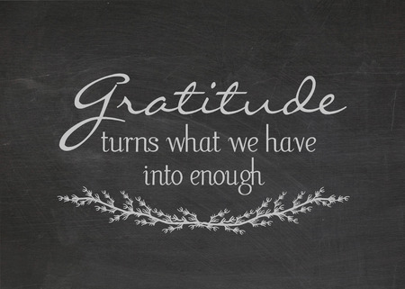gratitude: gratitude quote on dusty black chalkboard Stock Photo
