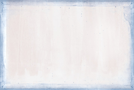 faded pink background with blue textured border