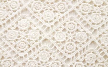 off white crochet lace background Stok Fotoğraf - 52190975