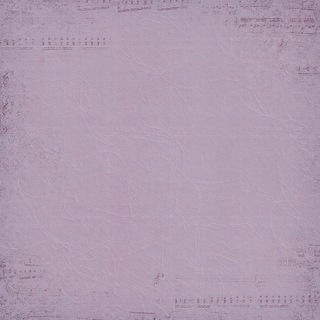 faded: faded music border on textured mauve background