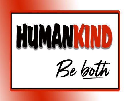 인간의 친절함에 대한 검은 색과 빨간색의 고무적인 견적