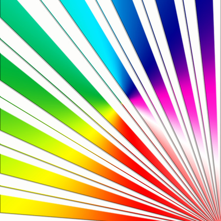gradient rainbow light ray abstract design on white background