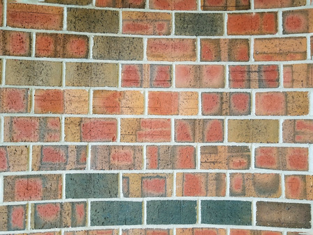 colorful concave brick wall background
