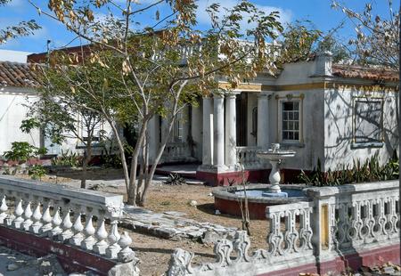 Abandoned dilapidated old residential house in Nassau Bahamas Stock Photo