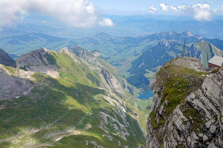 Panoramic view of the Austrian Alps in Bludenz in the summer Stock Photo