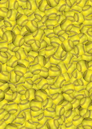layers of bright yellow softball background