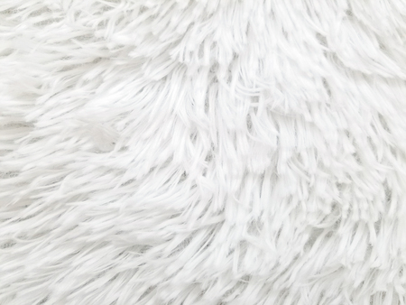 close up of white fake fur background 写真素材