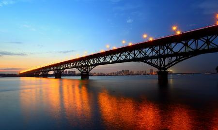 Nanjing Yangtze River Bridge Stock Photo