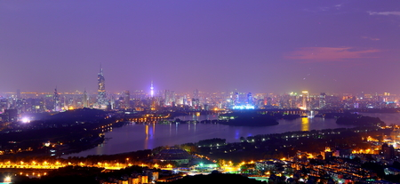 definition high: Nanjing night scenery Stock Photo