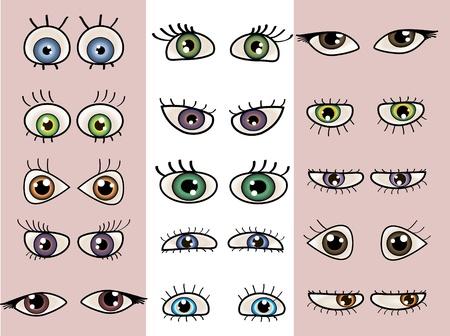 a set of beautiful eyes. Vetores