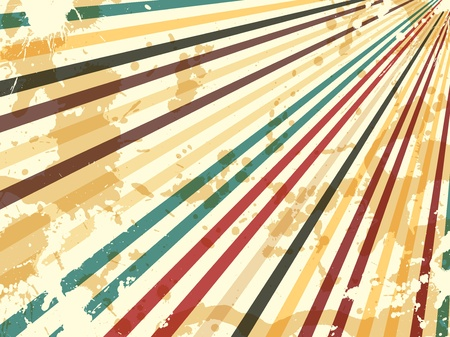 Grunge Retro-Hintergrund mit Strahlen und Funken Vektorgrafik