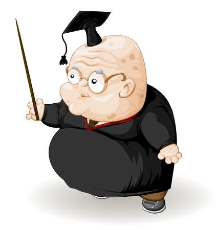 teacher student: viejo profesor con un puntero Vectores