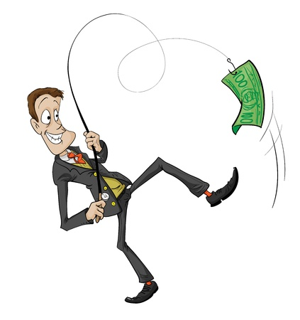 A catch is Businessman Vector