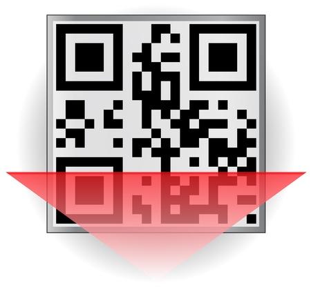QR-code scan Stock Vector - 12344800