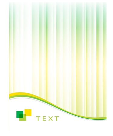 Abstract green background with place for text. Vector illustration.