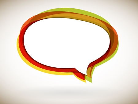 Speech bubble - colorful abstract background, vector Иллюстрация