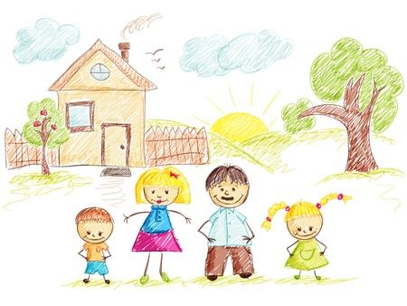 arbol geneal�gico: Beb� apliques antecedentes familiares en el hogar.