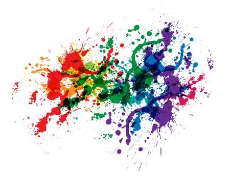 Farbe Farbspritzer Gradientenvektor Hintergrund Vektorgrafik