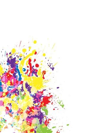 Color paint splashes  Gradient vector background Illustration
