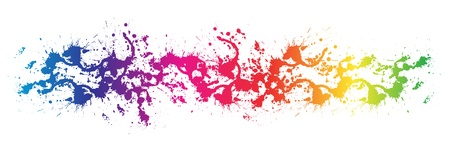 color spectrum: isolated Color paint splashes  Gradient vector background