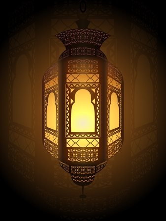 eastern spirituality: Illustration of fanoos (lantern) used as religious ornaments for decoration and celebration in the holy month of Ramadan.